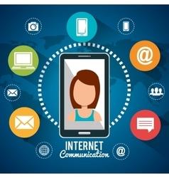 internet communication design vector image
