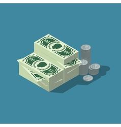Isometric cash vector image