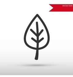 Leaf black icon and jpg Flat style object vector image