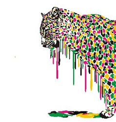 Leopard abstract painting vector image