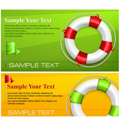 Life buoy on color vector image vector image