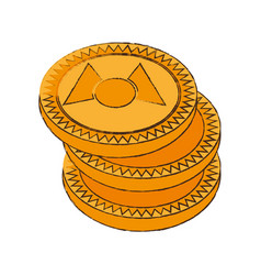 mastercoin cryptocurrency stack icon vector image