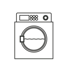 Monochrome silhouette of wash machine vector
