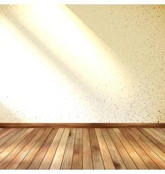 Old grunge interior wooden floor eps 10 vector