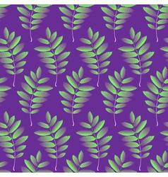 Seamless pattern with autumn rowan foliage vector