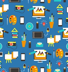 Seamless pattern with design equipment vector image vector image