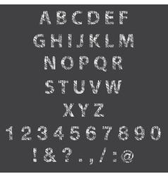 Sketch textured font vector image