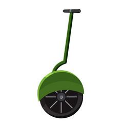 Solo wheel unicycle icon cartoon style vector