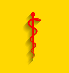 symbol of the medicine red icon with soft vector image vector image