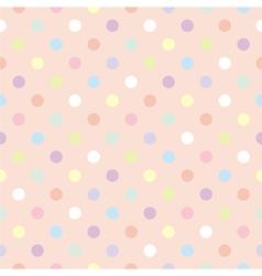 tile pastel polka dots pink pattern vector image vector image