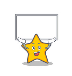 Up board star character cartoon style vector