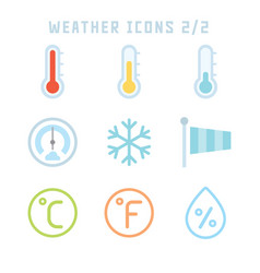 Weather icons two vector