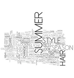 What will be hot in the summer of text word cloud vector