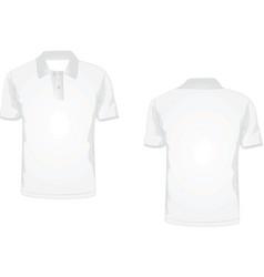 white polo t-shirt vector image