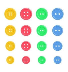 Set of bright plastic sewing buttons background vector