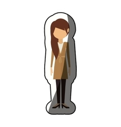 Isolated woman design vector