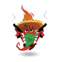 mexican pepper vector image