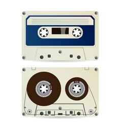 retro audio cassette vintage classic audio vector image