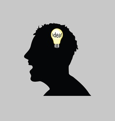 Idea in man head vector