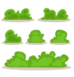 Set of bushes in hand-drawn style vector
