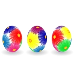 Easter eggs with decor elements vector