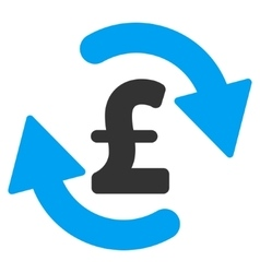 Refresh pound balance flat icon symbol vector