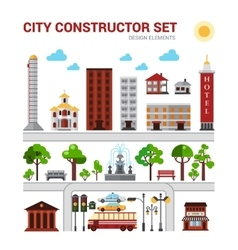 City constructor set vector