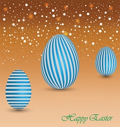 Happy easter background with a blue egg vector