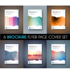 Set of brochure template flyer design or depliant vector