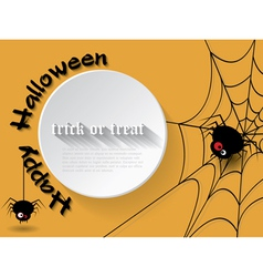 Abstract background for Halloween with spider vector image