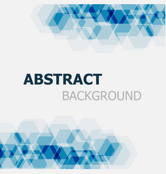 abstract dark blue hexagon overlapping background vector image vector image