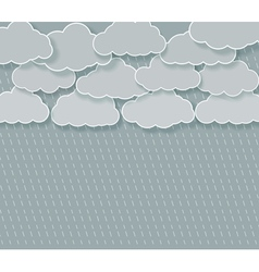 abstract rainy sky vector image