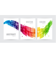 Abstract technology set business background vector