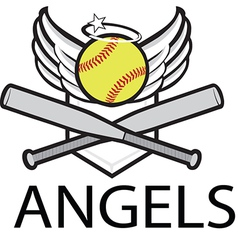 angels baseball logo vector image