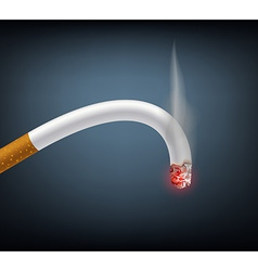 Bent cigarette meaning impotence vector