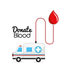 blood donation tools icon vector image vector image
