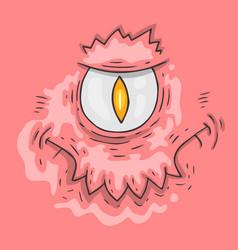cartoon monster face halloween vector image vector image