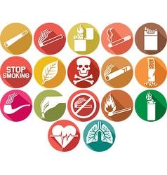 Cigarette and Tobacco Icon Set vector image vector image