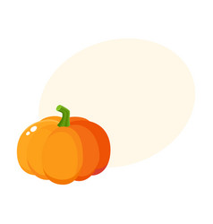 cute cartoon style pumpkin halloween vector image