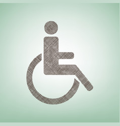 disabled sign brown flax vector image