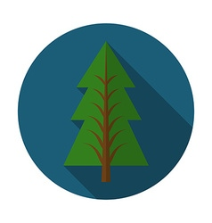 Flat design modern of pine tree icon with long vector image