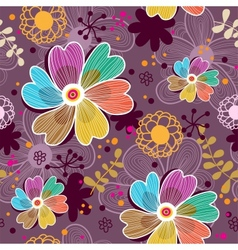 Floral seamless pattern in vector image