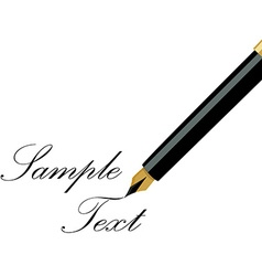 Fountain pen writing vector image