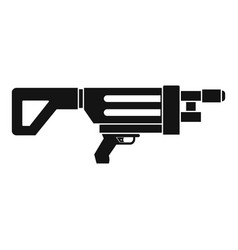 Game gun icon simple style vector
