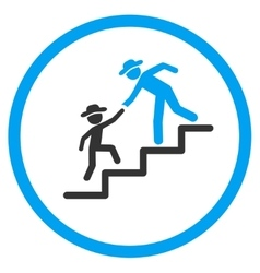 Guy Education Steps Rounded Icon vector image vector image