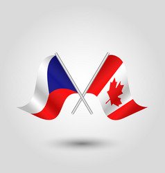 Icon of czech republic and canada vector