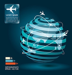 infographic airplane network concept vector image