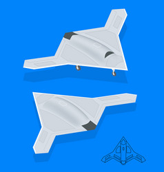 Isometric long range strike-bomber aircraft vector