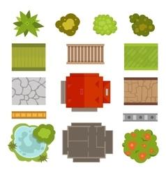 Landscape design constructor set vector image vector image
