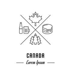 Line Banner Canada vector image vector image